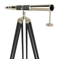 Pewter Telescope With Themocol Packing antique space optics since lense home accessory tripod